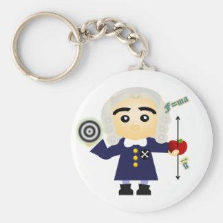 Isaac Newton Basic Round Button Keychain