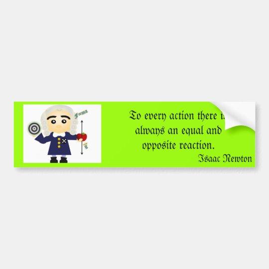 Isaac Newton Bumper Sticker