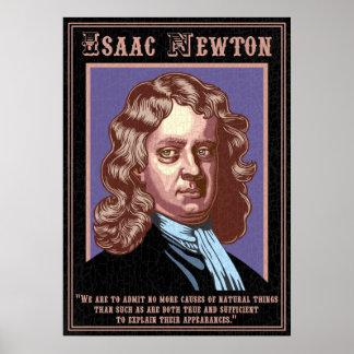 Isaac Newton - causas Poster