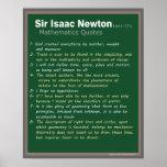 Isaac Newton cita el poster
