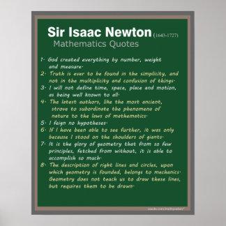 Isaac Newton cita el poster Póster