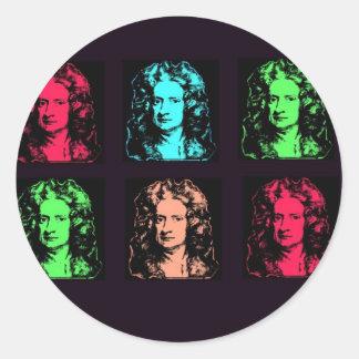 Isaac Newton Collage Classic Round Sticker