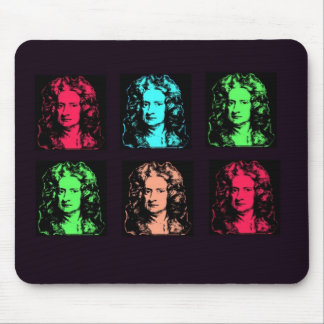 Isaac Newton Collage Mouse Pad