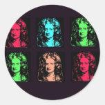 Isaac Newton Collage Round Sticker