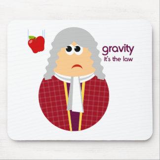 Isaac Newton divertido Mousepad Tapetes De Ratón