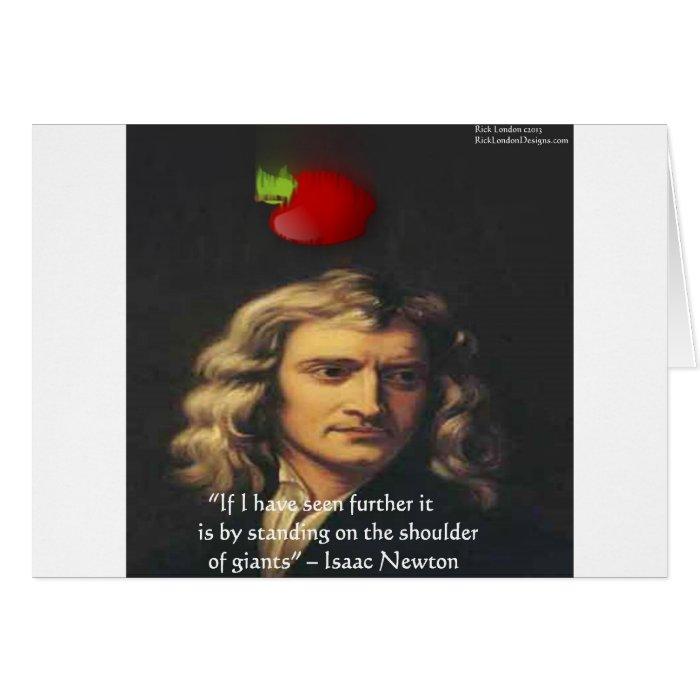 """Isaac Newton """"Giants Shoulders"""" Wisdom Gifts & Tee Card"""