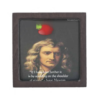 "Isaac Newton ""Giants Shoulders"" Wisdom Gifts & Tee Gift Box"