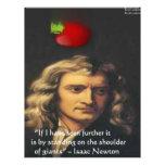 "Isaac Newton ""Giants Shoulders"" Wisdom Gifts & Tee Customized Letterhead"