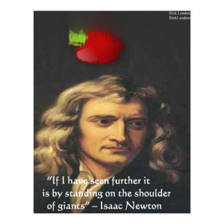 "Isaac Newton ""Giants Shoulders"" Wisdom Gifts & Tee Letterhead"