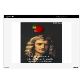 """Isaac Newton """"Giants Shoulders"""" Wisdom Gifts & Tee Skins For Laptops"""