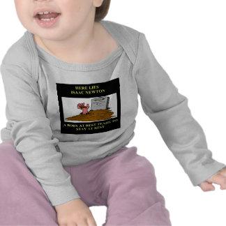 isaac newton joke tshirt