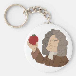 Isaac Newton Llavero Redondo Tipo Pin
