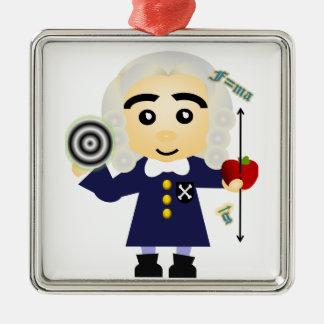 Isaac Newton Metal Ornament