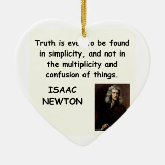 isaac newton Double-Sided heart ceramic christmas ornament
