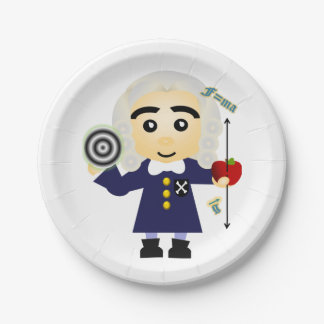 Isaac Newton Paper Plate