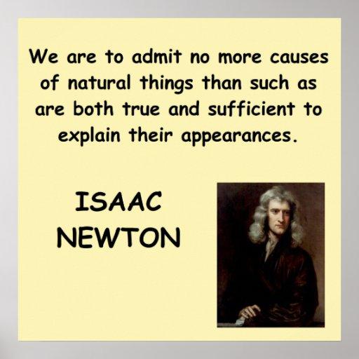Isaac Newton Póster