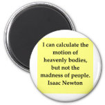 isaac newton quote 2 inch round magnet