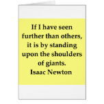 isaac newton quote card