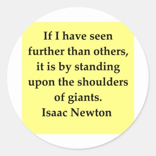 isaac newton quote classic round sticker