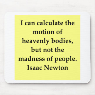 isaac newton quote mouse pad