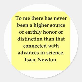 isaac newton quote sticker