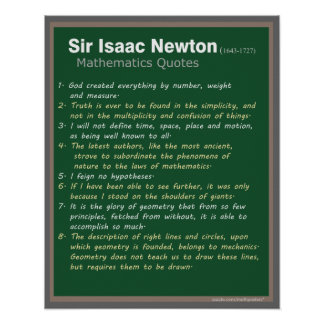 Isaac Newton Quotes poster