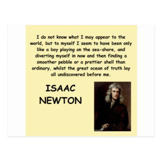 Isaac Newton Tarjeta Postal
