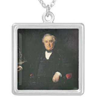 Isaac Pereire  1878 Silver Plated Necklace