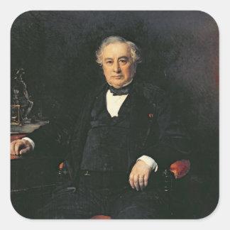 Isaac Pereire  1878 Square Sticker