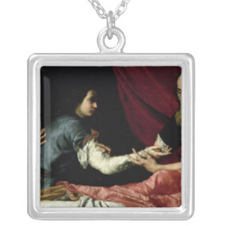 Isaac que bendice a Jacob, 1637 Collar Plateado