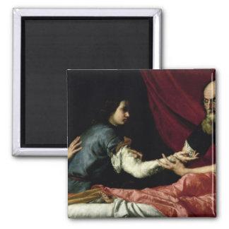 Isaac que bendice a Jacob, 1637 Imán Cuadrado