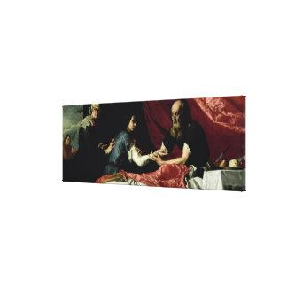 Isaac que bendice a Jacob, 1637 Impresión En Lienzo