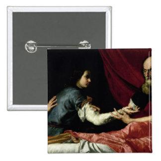 Isaac que bendice a Jacob, 1637 Pin Cuadrado