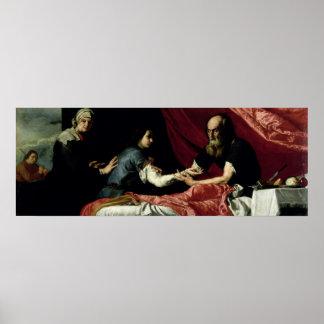 Isaac que bendice a Jacob, 1637 Póster