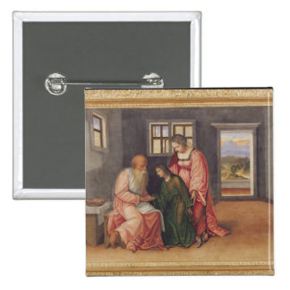 Isaac que bendice a Jacob, c.1520 Pin Cuadrado