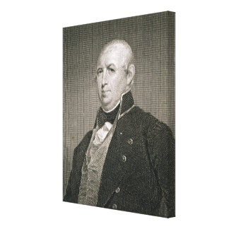 Isaac Shelby (1750-1826) engraved by Asher Brown D Canvas Print