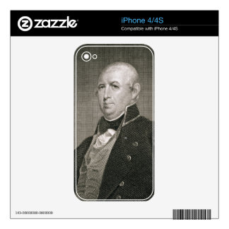 Isaac Shelby (1750-1826) engraved by Asher Brown D Decals For iPhone 4