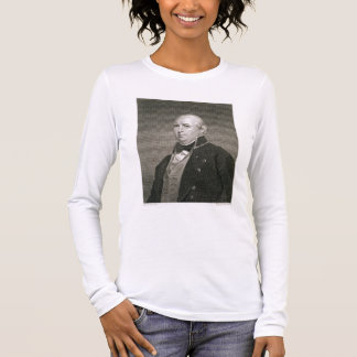 Isaac Shelby (1750-1826) engraved by Asher Brown D Long Sleeve T-Shirt