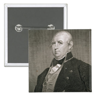 Isaac Shelby (1750-1826) engraved by Asher Brown D Pinback Button