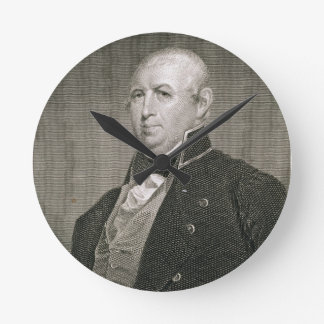 Isaac Shelby (1750-1826) engraved by Asher Brown D Round Clock