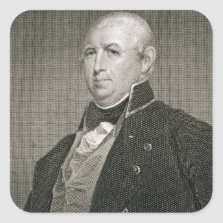 Isaac Shelby (1750-1826) engraved by Asher Brown D Square Sticker