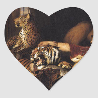 Isaac van Amburgh and his Animals by Edwin Henry L Heart Sticker