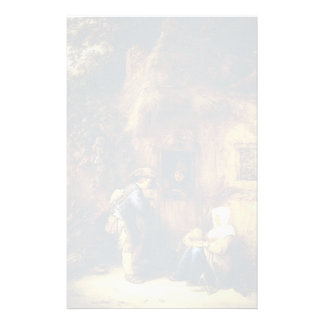 Isaac van Ostade- Traveller at a Cottage Door Personalized Stationery