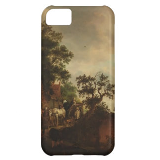 Isaac van Ostade- Travellers Halting at an Inn Cover For iPhone 5C