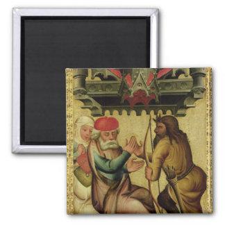 Isaac y Esau del alto altar Imán Cuadrado