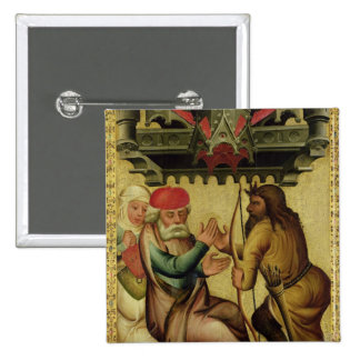 Isaac y Esau del alto altar Pin Cuadrado