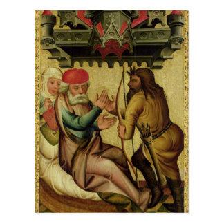 Isaac y Esau del alto altar Postal