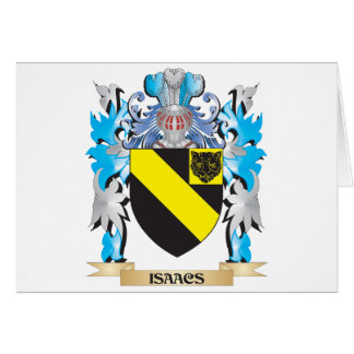 Isaacs Coat of Arms - Family Crest Card
