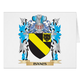 Isaacs Coat of Arms - Family Crest Greeting Card