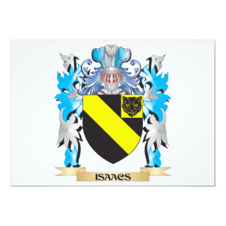 Isaacs Coat of Arms - Family Crest Custom Invites